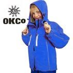 OKco Skoda Kids Waterproof Ski Snowboard Jacket (Blue) **CLEARANCE** Size 4 only