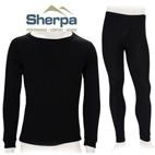 Sherpa Kids Polypropylene Thermals Set (Black) 2-12
