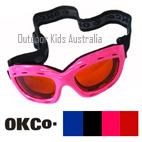 Top Gun Kids Ski Goggles by OKCo (suit ages 4-12 yrs) PINK ONLY