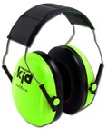 **FREE STORAGE TOTE** Peltor Kid Hearing Protection Ear Muffs for Babies & Kids - Neon Green (NRR 22dB)