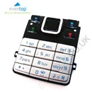 Original Nokia 6300 Replacement Keypad Buttons - Silver