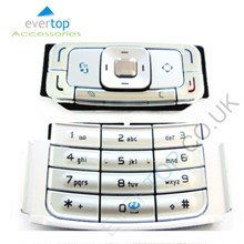 Genuine Nokia N95 Replacement Keypad Buttons Set - Silver