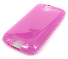 HTC Desire Protective TPU Soft Skin Case / Premium Quality / Pink