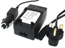 Sony NP-BK1 Battery Charger Travel Pack includes spare 2nd Battery, Car Charger and UK Power Lead for Sony Digital Cameras