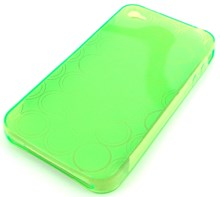 iPhone 4 Protective TPU Soft Skin Case / Transparent Lime Green