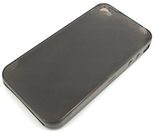 iPhone 4 Protective TPU Soft Skin Case / Transparent Black