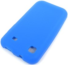 Samsung Galaxy S i9000 Protective Silicone Soft Skin Case / Blue