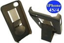 iPhone 4s & iPhone 4 Plastic Hard Case with Stand / Dark Tinted Black