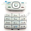 NEW Genuine Nokia 5300 XpressMusic Replacement Keypad Buttons Set - Silver