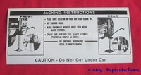 1967 Cadillac Jack Instructions