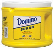 SUGAR (WHITE) DOMINO  4LB JAR