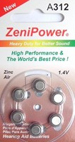 ZeniPower A312 Zinc Air