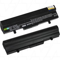 Asus 9 cell netbook replacement battery. Black colour ultra high capacity 6600mAh