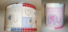 Elephants fabric lampshade for ceiling or bedside lights