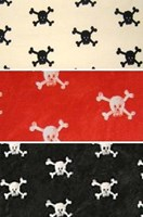 Pirate skull and crossbones curtains