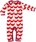ON SALE More than a Fling Organic L/s suit - Red Waves