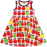 Sleeveless dress - Purple apple