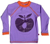 Kids rashie - Purple big apple