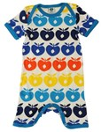 Summer suit - Turquoise multi apples