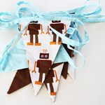 ON SALE - Bunting - Robot