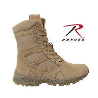 """Rothco Forced Entry Desert Tan 8"""" Deployment Boots with Side Zipper"""