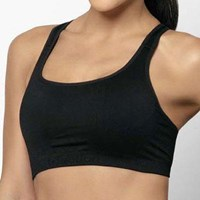 Triumph Triaction Seamfree Crop Top   Black or White