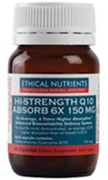 Ethical Nutrients HI-STRENGTH Coenzyme Q 10 ABSORB 6X 150mg Capsules 60