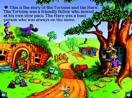 Living Book The Tortoise & The Hare Aesop's Fable (32-bit only ...