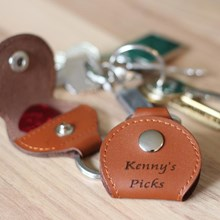 Personalised Leather Guitar Pick Holder
