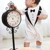 Classy Tuxedo 1 Piece Onesie/Romper - Formal/Wedding Attire - Baby Boy Clothes