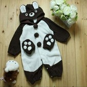 Baby Teddy Bear Picnic Romper with mittens - Baby Clothes