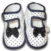 Bow Polka Prewalkers Blue Shoes - Baby Girls Shoes