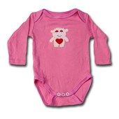 Monster Hearts and Love Adam & Eve Baby Wear Tag Free Romper - Baby Girls Clothes