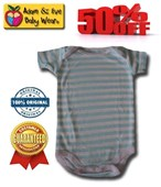 Baby Blue Stripes Adam & Eve Baby Wear Tag Free Romper - Baby Boys Clothes