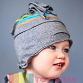 Shabby Chic In Charcoal Grey Beanie/Hat - Baby Boys & Baby Girls Clothes