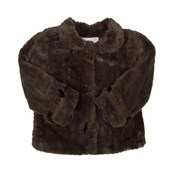 Sophia's Baby of the Ball Faux Fur Brown Superior Jacket - Baby Girls Clothes