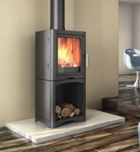 Broseley Evolution 5 Woodburning Stove with Log Store