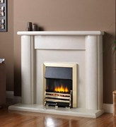 PureGlow Marlbrook Perla Fireplace Package