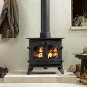 Yeoman County Double-sided, Single Depth Woodburning Stove