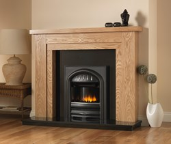 PureGlow Hanley Wooden Surround with Electric Fire