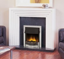 Dimplex Danesbury Chrome Inset Fire with LED effect