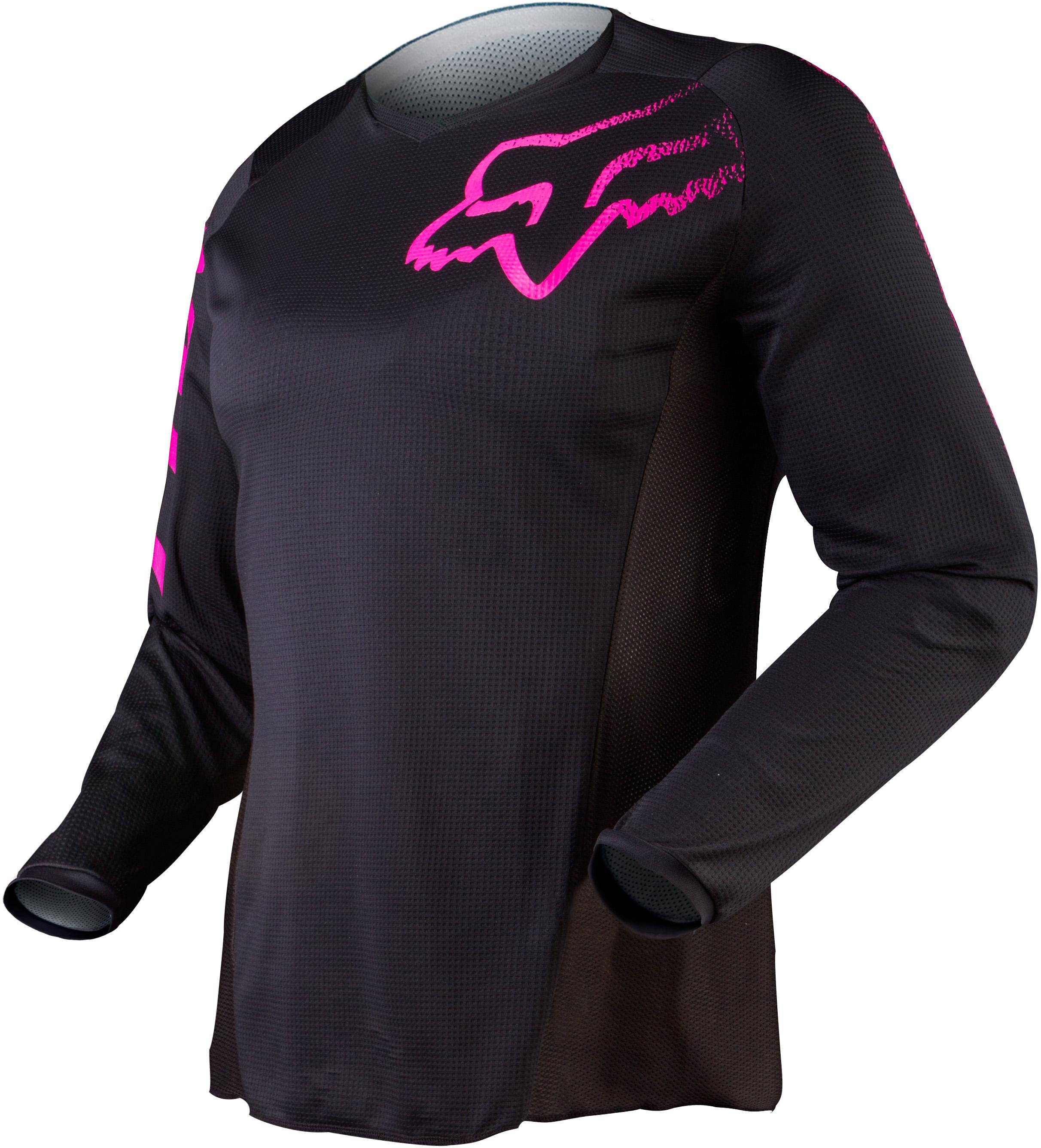 Fox 2019 Youth Girls Blackout Jersey Black Pink Online