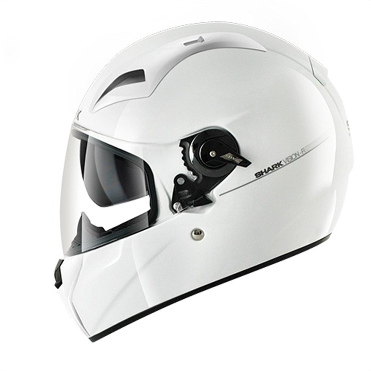 clearance sale shark vision r series 2 helmet blank gloss white online motorcycle. Black Bedroom Furniture Sets. Home Design Ideas