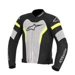 (CLEARANCE) - Alpinestars T-GP Pro Air Textile Jacket - Black/White/Yellow