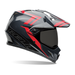 (CLEARANCE SALE) - Bell MX-9 Adventure Helmet - Barricade Red
