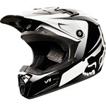 (CLEARANCE SALE) - FOX 2015 YOUTH V1 IMPERIAL MOTOCROSS HELMET - BLACK/WHITE