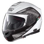 NOLAN N104 EVO TECH HELMET - WHITE/BLACK/GREY