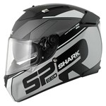 (SHARK CLEARANCE) - Shark Speed-R MXV Sauer Helmet - Black/Silver