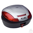 GIVI E470 MONOLOCK® BOX SIL/BLK WITH PLATE