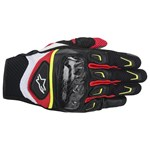 (CLEARANCE) ALPINESTARS SMX 2 AIR CARBON GLOVE - BLACK/WHITE/YELLOW/RED